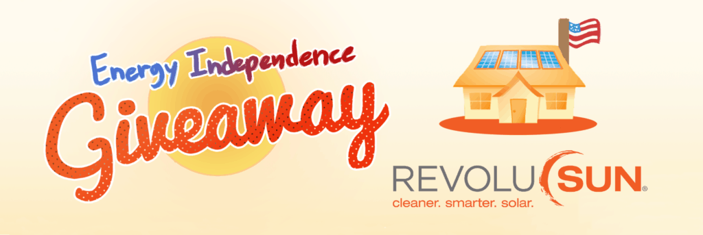 Revolusun energy independence giveaway banner fourth of july promotion