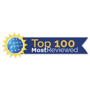 Top 100 Most reviewed Solarreviews award
