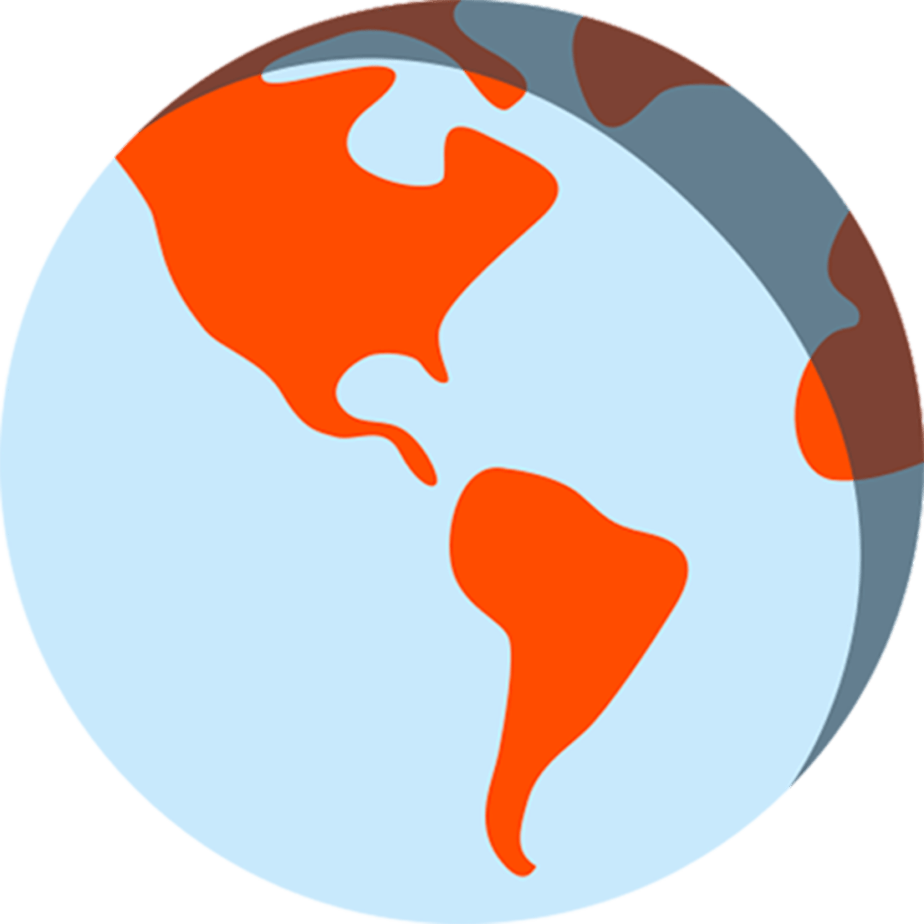 revolusun blue and orange earth illustrated graphic
